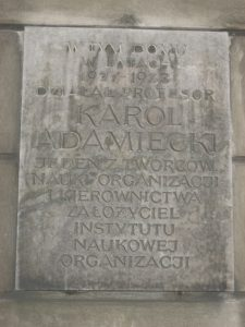 Gant_Karol_Adamiecki_plaque,_Warsaw